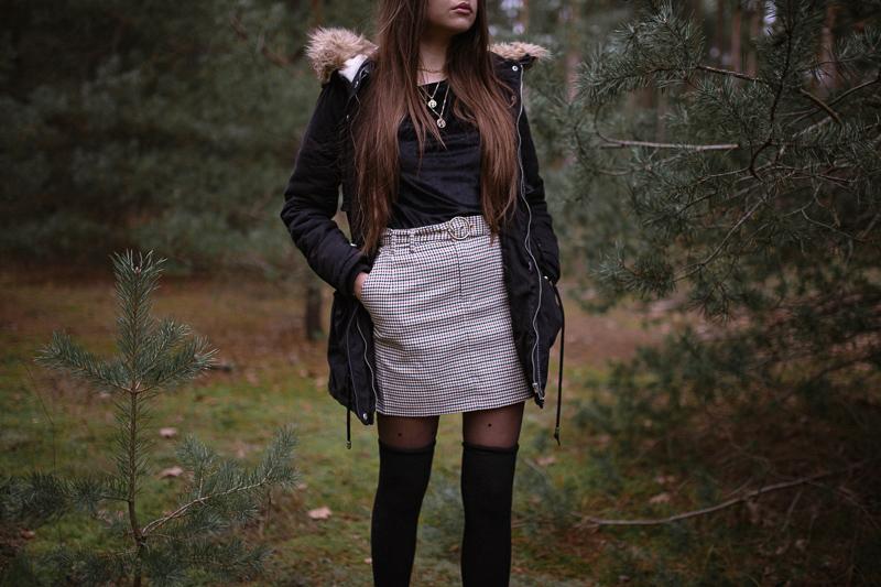 stylizacja z zimową kurtką