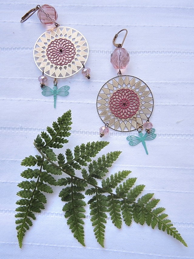 DIY oorbellen/earrings 'zonnekoning'