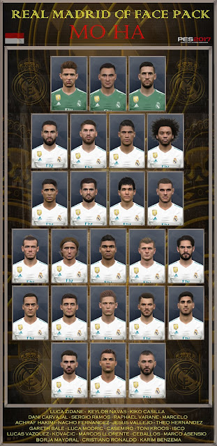 PES 2017 Facepack Real Madrid by Mo Ha