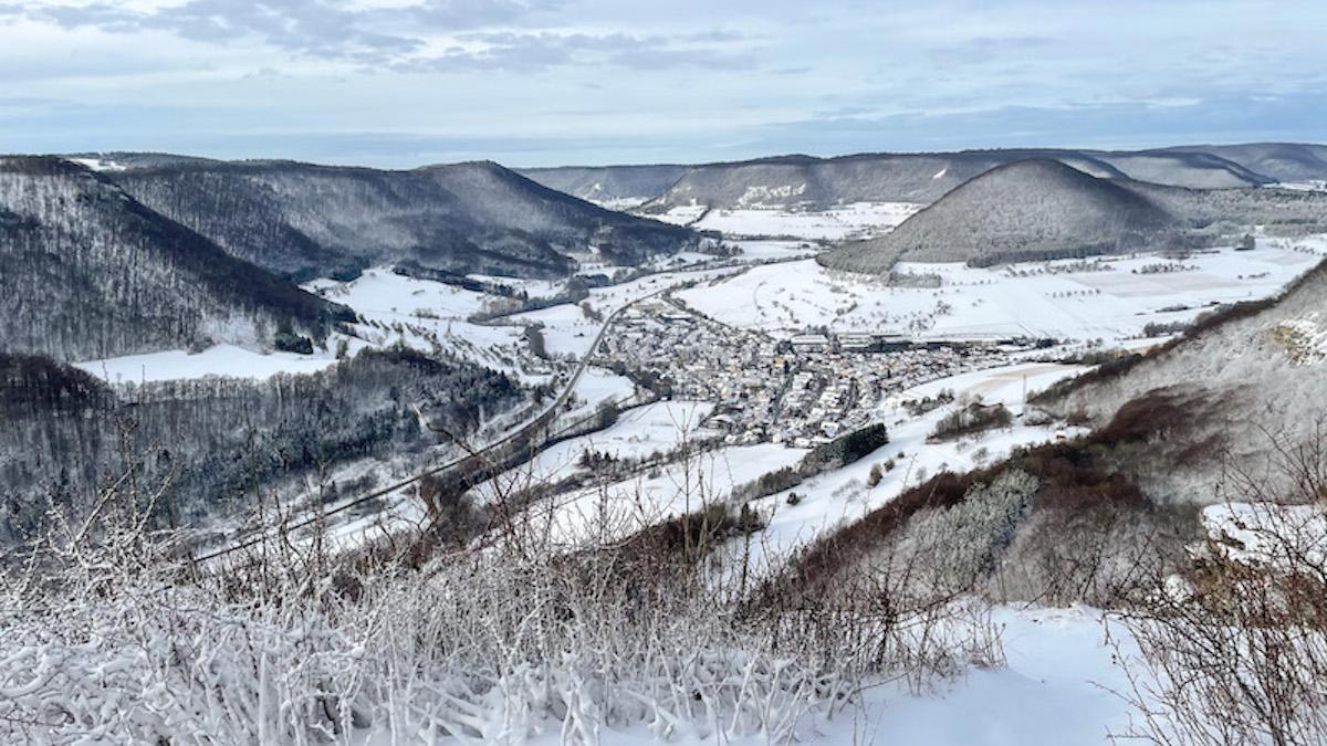 Winterwanderungen Nordschwarzwald schwäbischen Alb Wandern in Baden-Württemberg Löwenpfade Filstal Geislingen Oberböhringen Bad Überkingen Hausener Wand