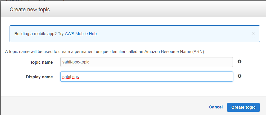 Using AWS Simple Notification Service (SNS) - A system