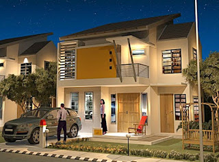 minimalist 2-storey house design - Lampung interior house