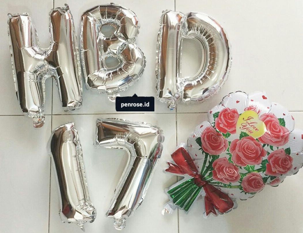 Toko Party Stuff Tegal Balon Dan Bunga Ready Foil Huruf Angka