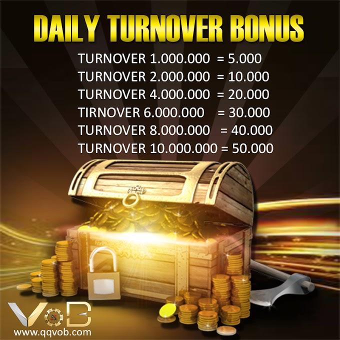Cara Klaim Bonus Turnover Harian 50.000 VOBBET