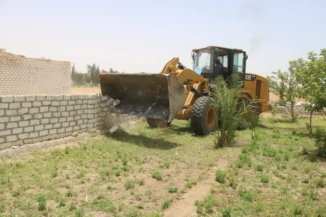 استرداد 8 افدنه و12 ألف و986 متر مربع من اراضي املاك الدولة بقنا