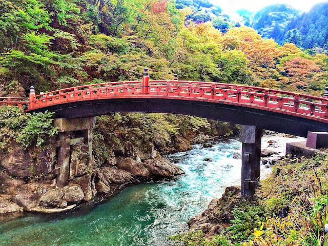 Shinkyo Bridge in Nikko Japan