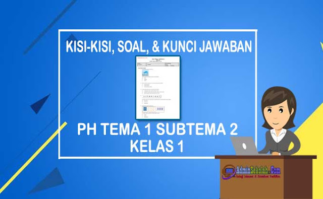 Soal PH Tema 1 Subtema 3 Kelas 1 SD dan Kunci Jawaban Lengkap