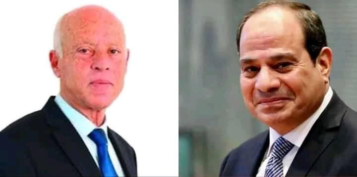 السيسي يجري اتصالا هاتفيا بالرئيس التونسي للاطمئنان على صحته