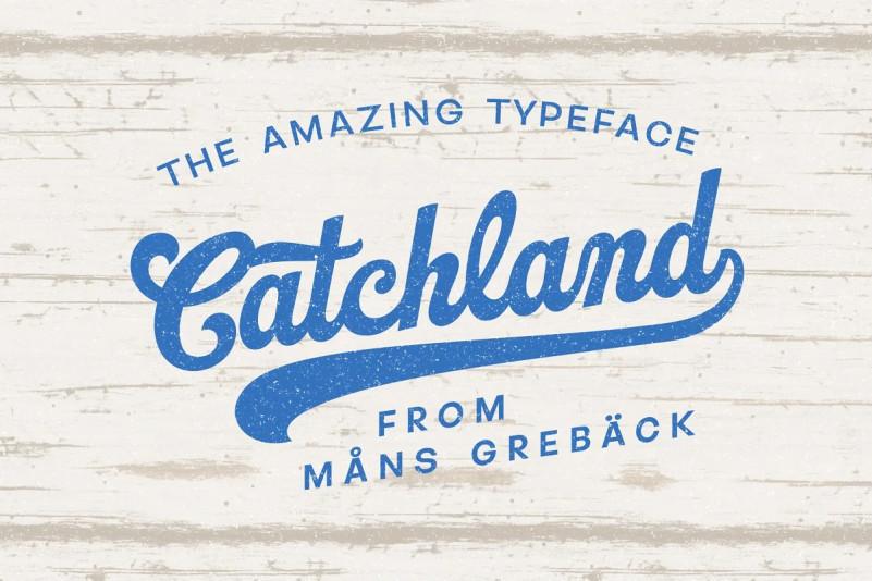 Catchland Font - Free Script Sport Typeface