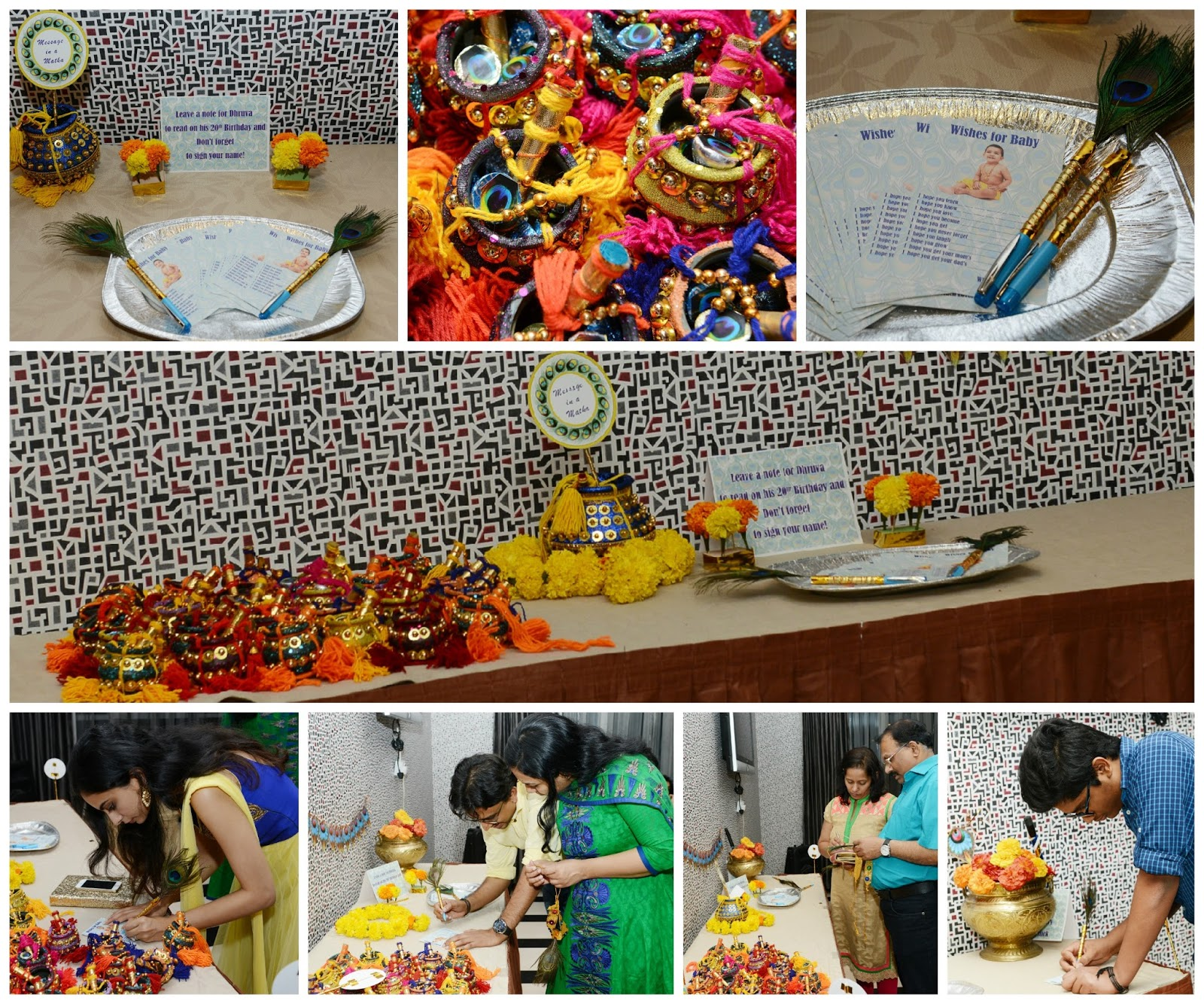 A Customised Cake With Lord Krishna/Kisna Themed All