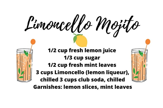 a recipe for limoncello mojito