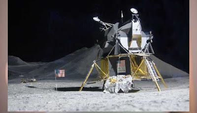 Ilustrasi mendarat di bulan