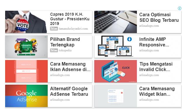 Menghilangkan Judul Blog di Matched Content Google AdSense