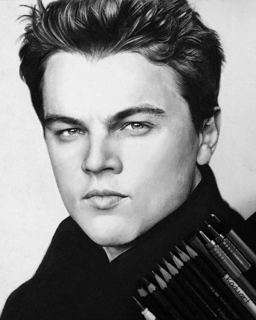 08-Leonardo-Dicaprio-Eduardo-Calil-Celebrity-Portrait-Drawings-Color-and-Black-and-White-www-designstack-co