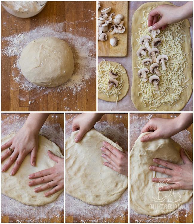 domowe ciasto na pizzę, rośnie w lodówce, ciasto robione dzień wcześniej, ciasto na drożdżach, drożdże instant