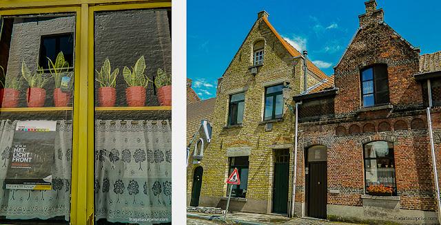 Fachadas e detalhes de Bruges, Bélgica