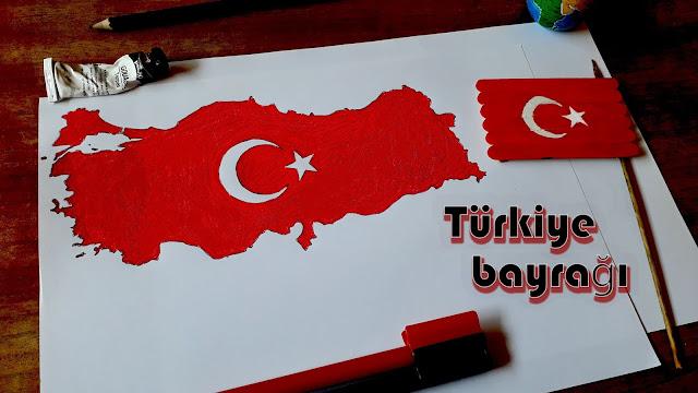 8#: رسم أعلام الدول على أعواد الخشب | تركيا