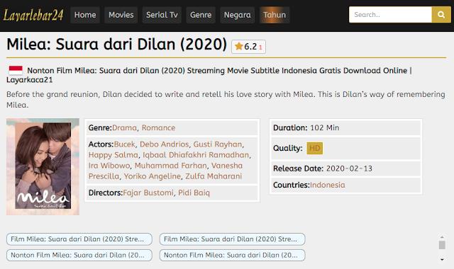 Nonton Film Milea: Suara dari Dilan (2020) Lengkap Link Terbaru 2021