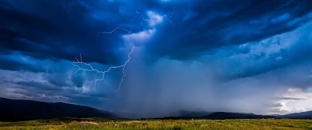 Lightning near Steamboat Springs, Colorado