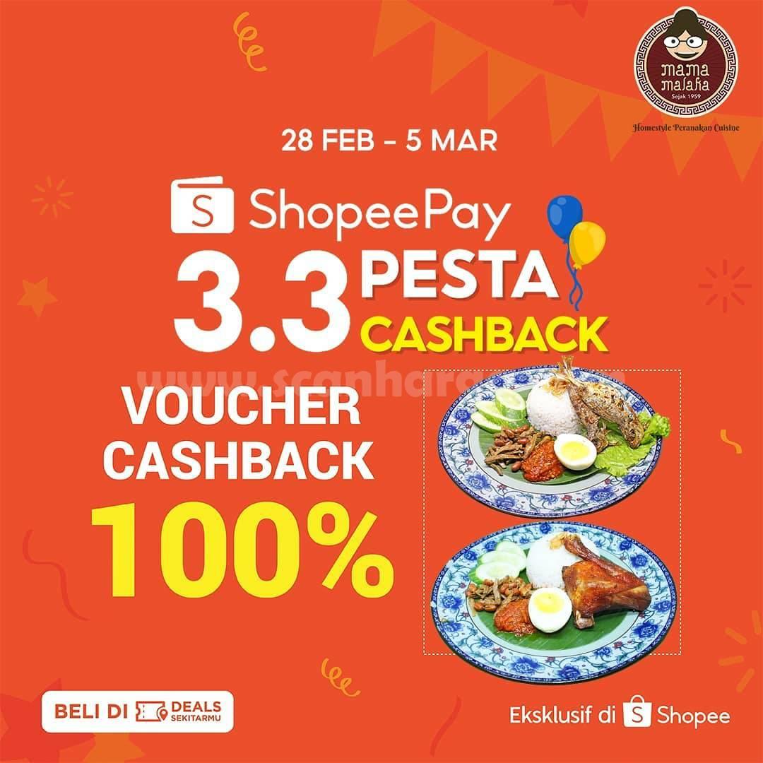 MAMA MALAKA Promo Voucher Deals ShopeePay Cashback 100%