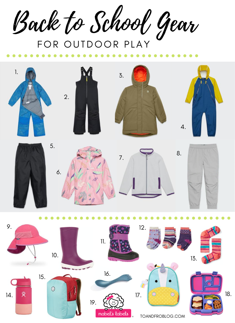 Back to School Gear for Outdoor Play
