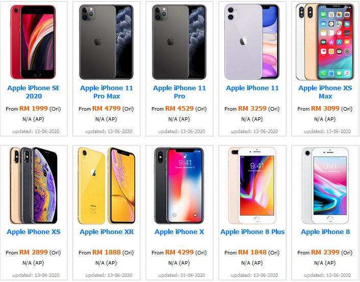 Harga iPhone Di Malaysia Terkini