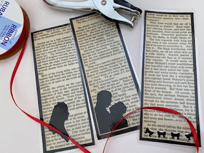 Making book marks from old book pages