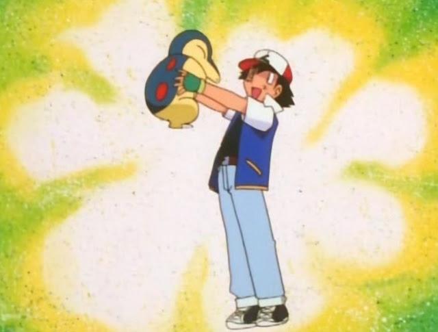 cyndaquil es un pokemon quizas similar a un ornitorrinco, verde con agujeros rojos en la espalda desde donde suelta llamas de fuego