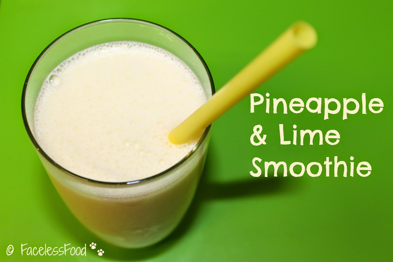 Pineapple & Lime Smoothie