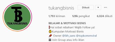 Akun Instagram bisnis menarik