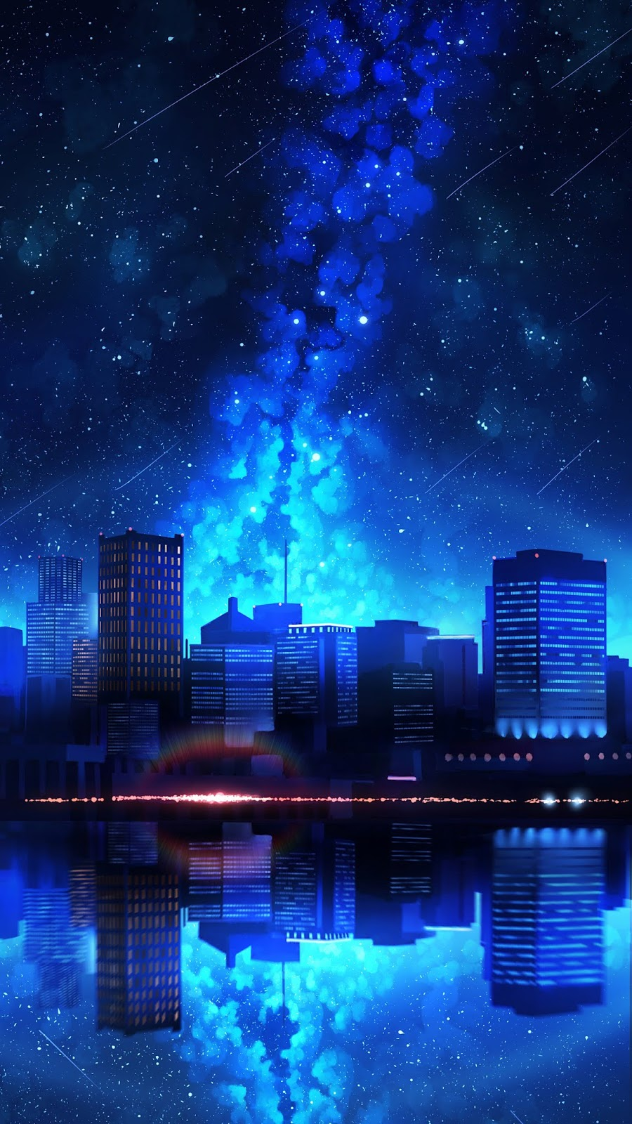 City in the starry night