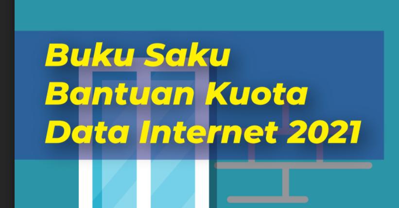 gambar buku saku bantuan kuota internet kemdikbud 2021