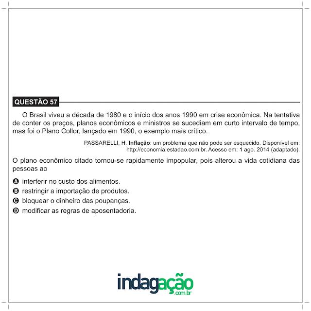 Encceja 2018 O Brasil viveu a década de 1980 e o início dos anos 1990 em crise econômica