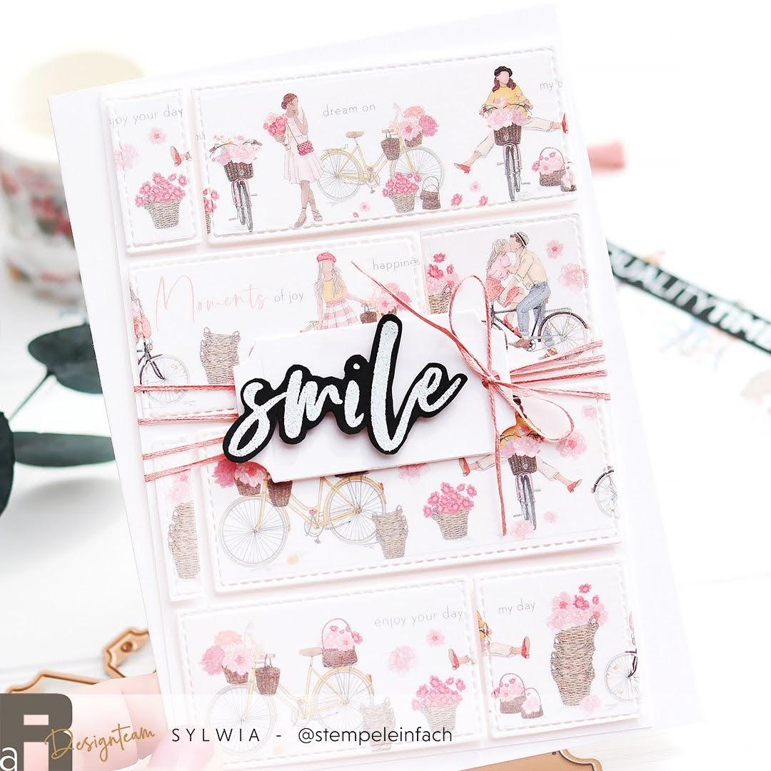 Smile-Karte mit Washi Tape