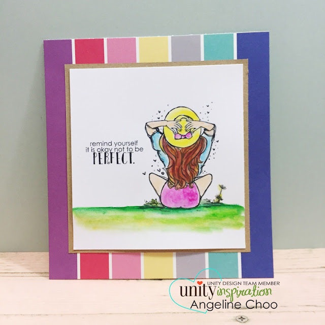 ScrappyScrappy: Unity Stamp Design Team -- Not Perfect #scrappyscrappy #unitystampco #stamp #stamping #card #cardmaking #oilpastel #sotw