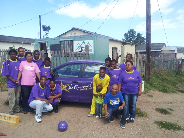 Hollywoodbets Knysna donated much needed soccer kits to the Seven Passes Initiative in the Western Cape. This is part of Hollywood's Social Responsibility Program.