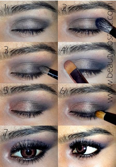 Tutorial: Bronze smokey eye look/ Makeup for hazel eyes ...