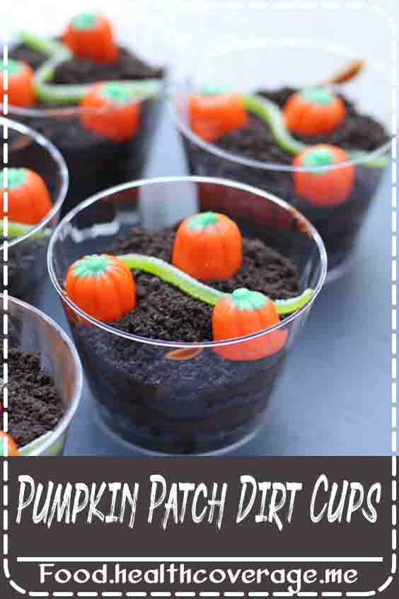 These individually portioned fall-inspired dirt cups would be a delicious treat to serve as a snack or at a Fall party!