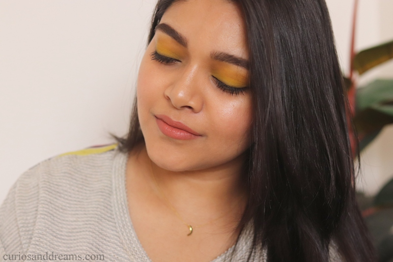 Yellow Eyeshadow look, Yellow eyeshadow look india
