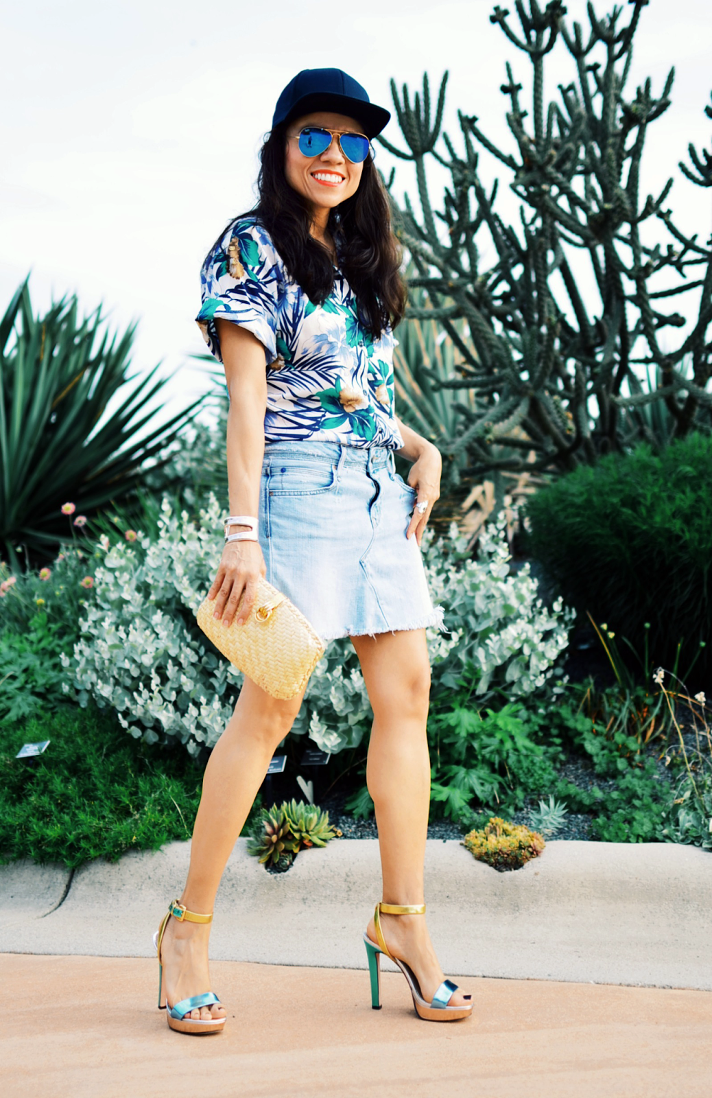 How to style tropical prints