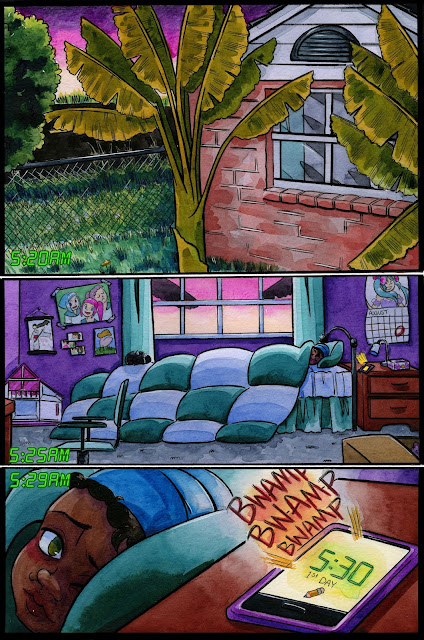 "Sample comic page from the comic 7"" Kara"