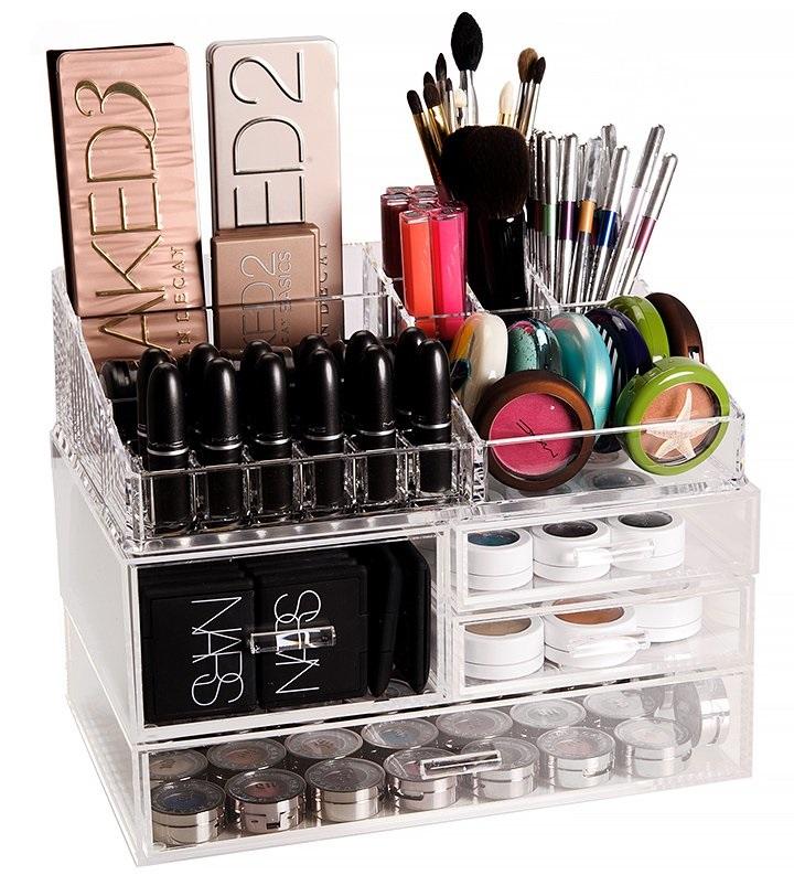 Caja de metacrilato para guardar productos de belleza