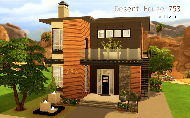 contemporary house sims 4