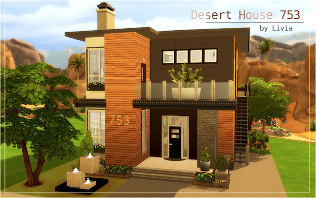 Sims 4 Contemporary Desert House