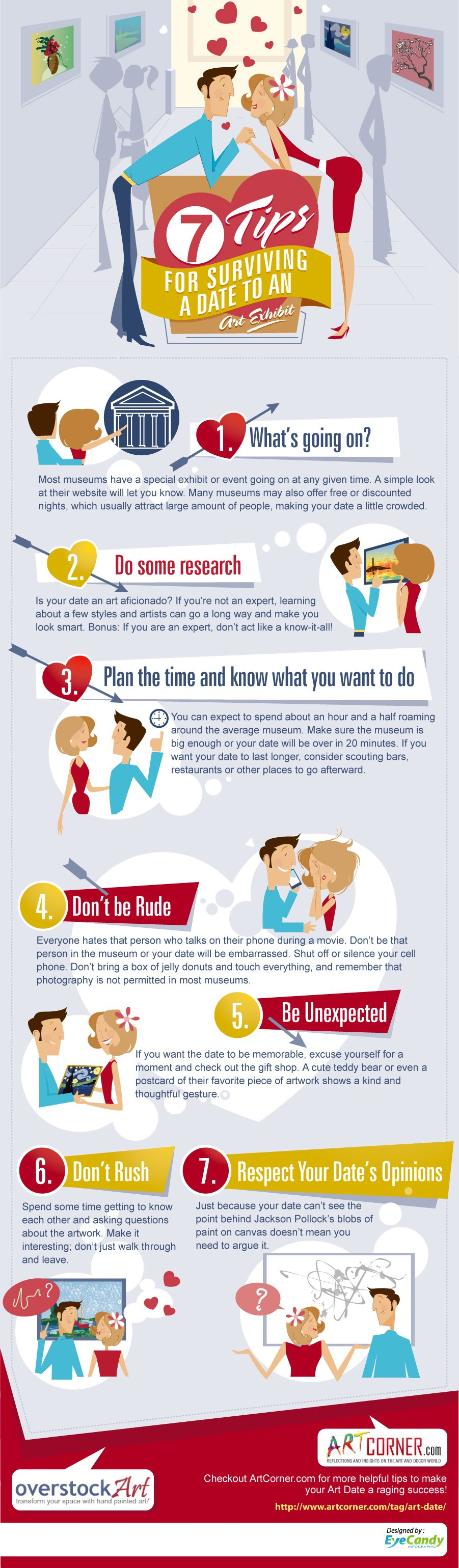 Useful Tips For Surviving A Date To An Art Exhibit #Infographic