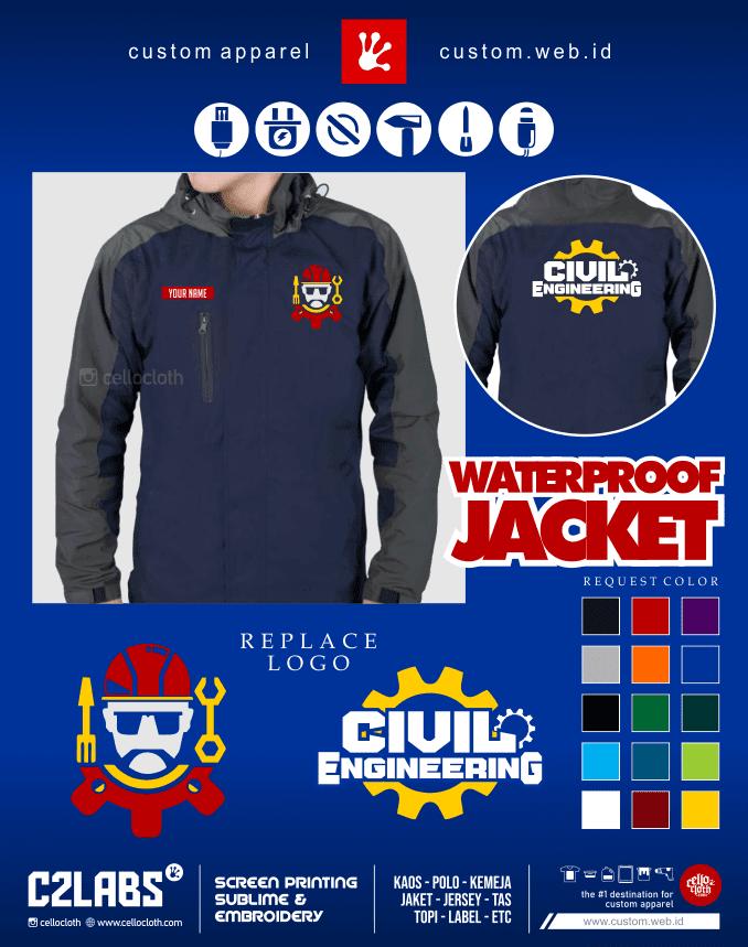 GetDrawings Civil Engineering Jacket - Jaket Tehnik Sipil - Konveksi Jaket Jogja