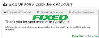 Open CickBank Account