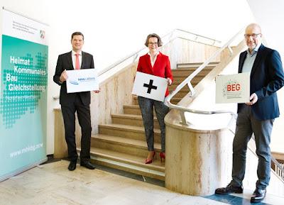 Ministerin Scharrenbach mit Geschäftsführung Brockmeyer & Kloidt