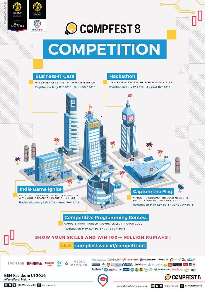 CompFest 8 Competition di Universitas Indonesia UI Depok Jawa Barat