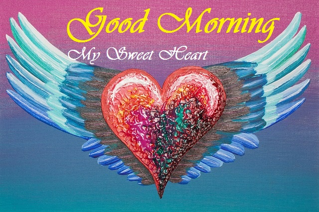 good morning beautiful heart painting